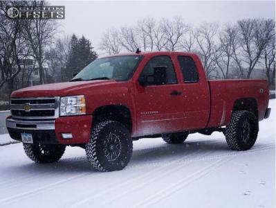 "2011 Chevrolet Silverado 1500 - 20x12 -44mm - Hostile Blaze - Suspension Lift 3"" - 33"" x 12.5"""