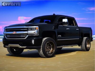 """2016 Chevrolet Silverado 1500 - 20x12 -44mm - Brute Reaper - Suspension Lift 4"""" - 305/50R20"""
