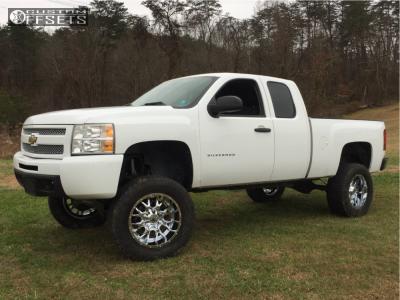 """2010 Chevrolet Silverado 1500 - 20x10 -19mm - Dropstars 645v - Suspension Lift 8"""" - 325/60R20"""