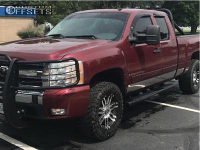 """2008 Chevrolet Silverado 1500 - 18x9 12mm - Mamba M2x - Suspension Lift 2.5"""" - 0"""" x12.5"""""""