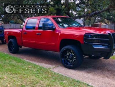 """2008 Chevrolet Silverado 1500 - 22x12 -44mm - Fuel Stroke - Suspension Lift 3"""" - 305/45R22"""