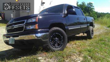 2006 Chevrolet Silverado 1500 - 17x8.5 10mm - Tuff N/A - Stock Suspension - 265/70R17