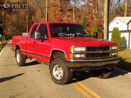 "1995 Chevrolet K1500 - 16x8 0mm - American Racing AR136 - Body Lift 3"" - 29"" x 8.5"""
