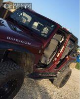 "2008 Jeep Wrangler - 17x9 -6mm - Fuel Hostage - Suspension Lift 4"" - 33"" x 12.5"""