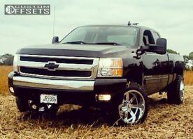 "2008 Chevrolet Silverado 1500 - 20x12 -44mm - Moto Metal Mo962 - Suspension Lift 3.5"" - 33"" x 12.5"""
