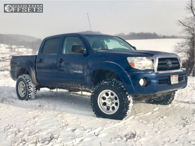 """2006 Toyota Tacoma - 16x8 -5mm - Alloy Ion Style 171 - Suspension Lift 3"""" - 265/75R16"""