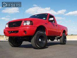 "2002 Ford Ranger - 15x10 -25.4mm - Cragar D window - Body Lift 3"" - 31"" x 10.5"""