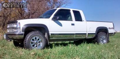 "1998 Chevrolet K2500 - 17x9 0mm - American Racing N/a - Leveling Kit - 33"" x 11.5"""