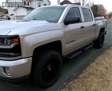 "2018 Chevrolet Silverado 1500 - 20x10 -24mm - Fuel Coupler - Leveling Kit - 32"" x 11.5"""