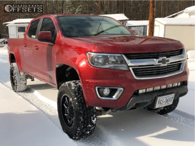 "2016 Chevrolet Colorado - 18x9 0mm - Fuel Cleaver - Suspension Lift 6"" - 275/70R18"
