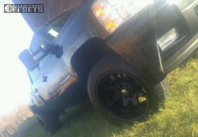 "2009 Chevrolet Silverado 1500 - 20x12 -44mm - Fuel Octane - Suspension Lift 3.5"" - 33"" x 12.5"""