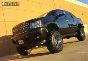 "2008 Chevrolet Avalanche - 20x12 -44mm - Moto Metal MO962 - Suspension Lift 7"" - 35"" x 12.5"""