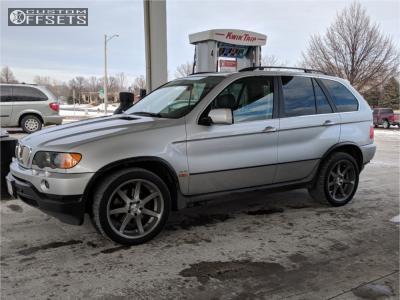 2001 BMW X3 - 20x9 26mm - Breyton Visions - Lowering Springs - 275/40R20