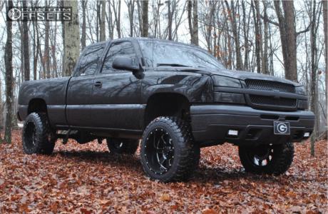 "2004 Chevrolet Silverado 1500 - 20x12 -44mm - Gear Off-Road Big Block - Suspension Lift 8.5"" - 33"" x 12.5"""