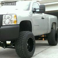 """2011 Chevrolet Silverado 1500 - 18x12 -44mm - Fuel Hostage - Suspension Lift 7.5"""" - 325/60R18"""