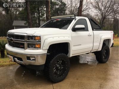 "2015 Chevrolet Silverado 1500 - 20x10 -24mm - Fuel Full Blown - Suspension Lift 6"" - 35"" x 12.5"""