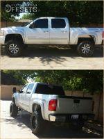 "2012 Chevrolet Silverado 1500 - 20x12 -44.45mm - Fuel Maverick - Suspension Lift 7.5"" - 35"" x 13.5"""