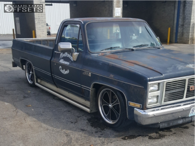 1985 GMC C1500 - 20x8.5 0mm - Ridler Style 645 - Lowered 6 F / 8 R - 245/45R20