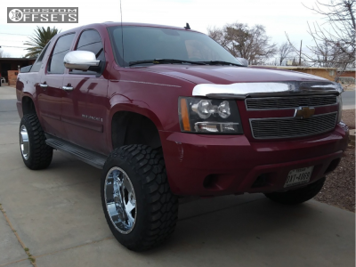 "2007 Chevrolet Avalanche - 20x12 -44mm - Xtreme Mudder Xm-315 - Suspension Lift 7.5"" - 35"" x 12.5"""
