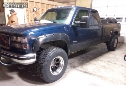 """1998 GMC K2500 - 16x10 -38mm - Alloy Ion Style 171 - Suspension Lift 2.5"""" - 305/70R16"""