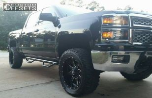 "2014 Chevrolet Silverado 1500 - 20x10 -24mm - Fuel Maverick - Suspension Lift 3.5"" - 33"" x 12.5"""