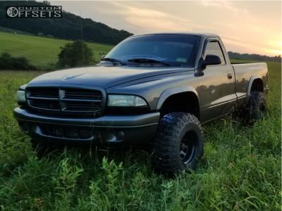 "2002 Dodge Dakota - 15x10 -25mm - Black Rock Type 8 - Suspension Lift 3"" - 32"" x 11.5"""