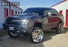 """2003 Chevrolet Avalanche - 24x14 -76mm - American Force Independence SS - Suspension Lift 7.5"""" - 305/35R24"""
