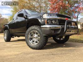 2012 Chevrolet Colorado - 17x9 -12mm - Fuel Hostage - Leveling Kit - 265/70R17