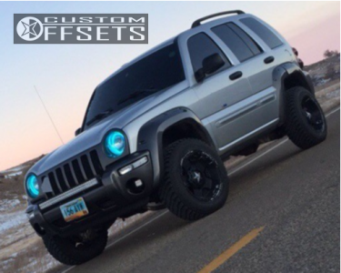 "2003 Jeep Liberty - 17x9 -12mm - XD Rockstar 3 - Suspension Lift 3"" - 235/65R17"