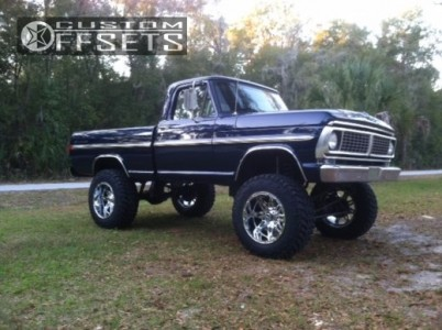 """1965 Ford F-100 Pickup - 22x14 -76mm - Fuel Hostage - Suspension Lift 8"""" - 37"""" x 13.5"""""""
