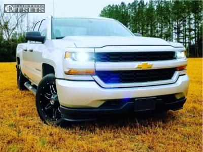 2016 Chevrolet Silverado 1500 - 20x9 0mm - Hardcore Offroad 03 - Stock Suspension - 275/55R20