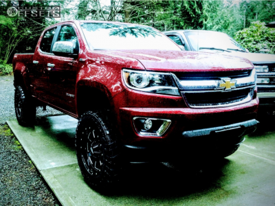 "2018 Chevrolet Colorado - 18x9 0mm - Moto Metal Mo962 - Suspension Lift 5.5"" - 275/70R18"