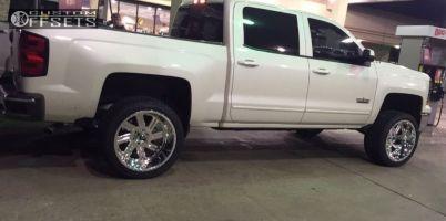 """2015 Chevrolet Silverado 1500 - 22x12 -51mm - Fuel FF07 - Suspension Lift 3.5"""" - 305/40R22"""