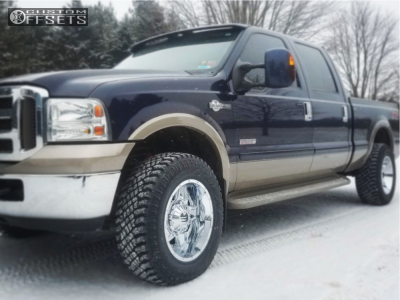"2006 Ford F-250 Super Duty - 18x10 -25mm - Tis 543c - Stock Suspension - 33"" x 10.5"""