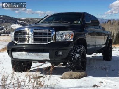 """2008 Dodge Ram 3500 - 22x10 -18mm - Moto Metal Mo982 - Leveling Kit - 35"""" x 12.5"""""""