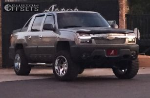 "2003 Chevrolet Avalanche - 20x12 -44mm - Moto Metal MO962 - Suspension Lift 4"" - 33"" x 12.5"""