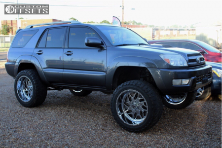 """2005 Toyota 4Runner - 22x12 -44mm - Xtreme Force Xf2 - Suspension Lift 9"""" - 35"""" x 12.5"""""""