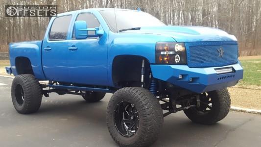 "2008 Chevrolet Silverado 1500 - 20x12 -44mm - Brute Reaper - Lifted >12"" - 40"" x 15.5"""