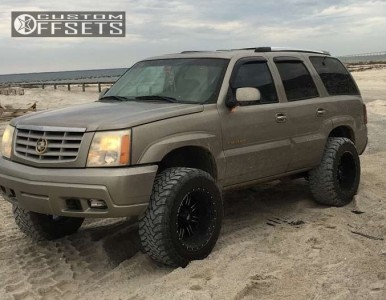 """2002 Cadillac Escalade - 20x12 -44mm - Red Dirt Road Rd01 - Leveling Kit - 35"""" x 12.5"""""""