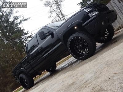 "2006 Chevrolet Silverado 1500 HD - 24x14 -76mm - TIS 544bm - Level 2"" Drop Rear - 35"" x 12.5"""