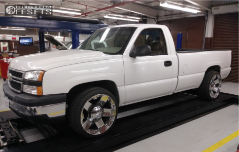 "2006 Chevrolet Silverado 1500 - 22x12 -44mm - XD Xd775 - Level 2"" Drop Rear - 285/35R22"