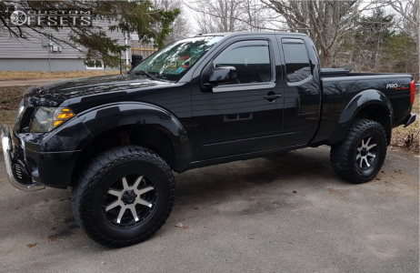 """2012 Nissan Frontier - 17x8 10mm - Ultra Crusher - Suspension Lift 6"""" - 315/70R17"""