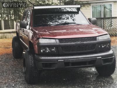 "2007 Chevrolet Colorado - 15x10 -43mm - Bart Super Trucker - Suspension Lift 2.5"" - 31"" x 10.5"""