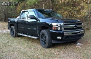 2011 Chevrolet Silverado 1500 - 20x9 0mm - Xd Rockstar Ii - Leveling Kit - 275/65R20