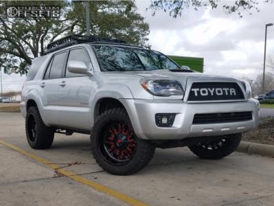 """2006 Toyota 4Runner - 20x10 -18mm - Fuel Stroke - Suspension Lift 3"""" - 285/55R20"""