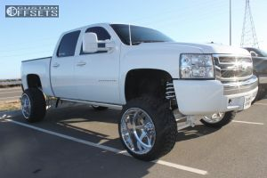 """2011 Chevrolet Silverado 1500 - 22x14 -70mm - American Force INDEPENDENCE SS - Suspension Lift 10"""" - 33"""" x 12.5"""""""