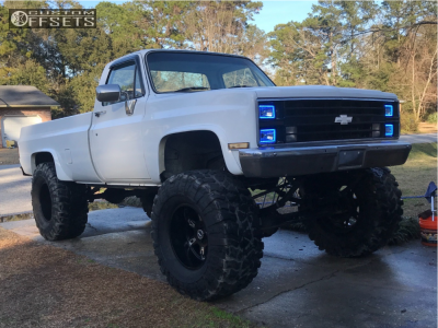 "1985 Chevrolet K30 - 20x12 -44mm - Moto Metal Mo969 - Suspension Lift 12"" - 44"" x 18.5"""