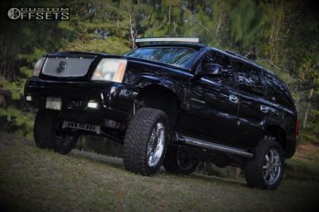 "2004 Cadillac Escalade - 22x9.5 0mm - Motto Mt100 - Suspension Lift 6"" - 35"" x 12.5"""