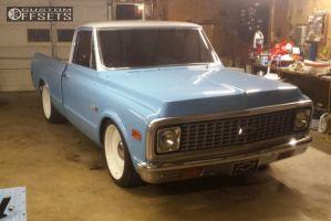 "1971 Chevrolet C10 Pickup - 20x9 0mm - Detroit Steele N/a - Lowered 5F / 7R - 27"" x10.5"""