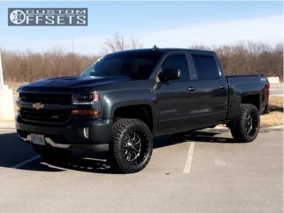 "2017 Chevrolet Silverado 1500 - 20x10 -18mm - Fuel Titan - Suspension Lift 4"" - 33"" x 12.5"""